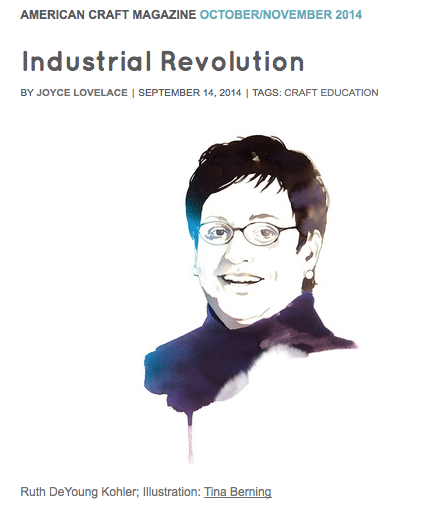 Industrial Revolution by Joyce Lovelace, September 14, 2014 American Craft Magazine