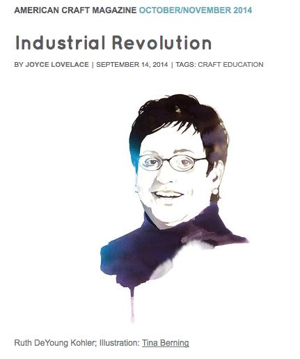 Industrial Revolution by Joyce Lovelace, September 14, 2014 American Craft Magazine